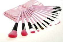 make up brushes 15pcs nylon hair with bright pu bag