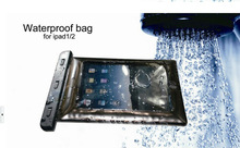 100% sealed Durable Waterproof bag Underwater back cover Case For ipad