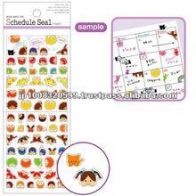 Schedule Sticker frame 4 _ wall pictures children _ sticker paper _ paper craft _ most popular products