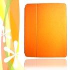 iPad case (iPad 2&3) brilliant orange PU leather surface & silicone holder to protect your iPad