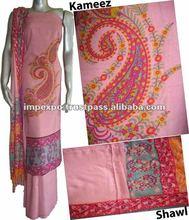 Ladies Winterwear Pashmina Suit with Shawl