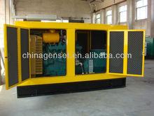 Fabricante de porcelana de pequeña planta de biogás en silencio 80-120kw biogás equipo conjunto generador de biogás
