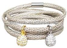 White ceramic steel bracelet high class stainless steel bracelet stainless steel twisted cable bracelet