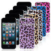 for iphone 5c leopard plastic protective mobile phone case