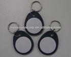 Fashion Sublimation Keychain Custom Rfid Key Fob Waterproof Ring Epoxy