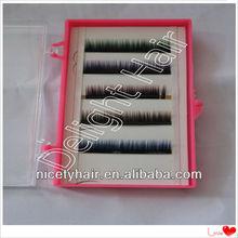 2013 new fashion wholesale two tone eyelash extension lashes