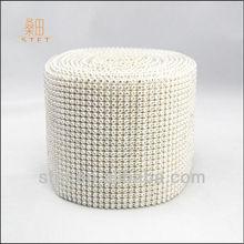 Bling Bling Wedding Chair Decoration Diamond Mesh Wrap