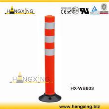 Rubber Base Plastic Traffic Bollard WB603