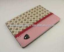 Book leather case for ipad mini;stand leather case for ipad mini