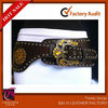 2013 WOMEN HIP WAIST BROWN WESTERN WIDE FASHION BELT ORANGE RHINESTONES