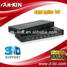 Hdmi Amplifier Splitter Multiplier 1 TO 8 Hdmi 1080p