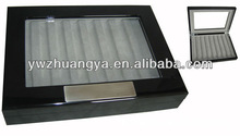 High-end piano lacquer finish wooden pen box, gift boxes for pens, pen storage boxes