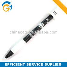 Hot Lovely Cartoon White And Black Cap Stylus Ball Pen