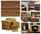 Zebrano Wood Veneer Furniture chinese manufacturer