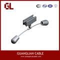 adss y opgw cable helicoidal de montaje del amortiguador de vibraciones de la polea