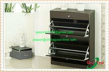 black walnut wooden shoe rack