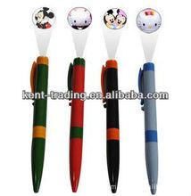 new design plastic clip pen projection ballpoint pen