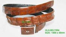 Brown Alligator Leather Belt