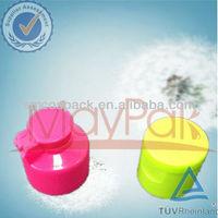 Plastic flip top caps for toothpaste tubes