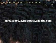 Natural Raw Indian bulk black Hair