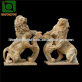 al aire libre esculturas de león de mármol tallado