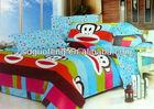 100% cotton printed woven flannel stripe bedding sheet fabrics