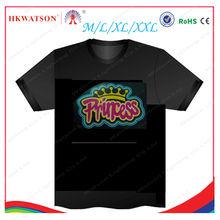 2013 hot selling glowing t-shirt,custom el t-shirt,sound actived flashing led t-shirt