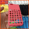 for iphone 5c silicon case with 35 circle holds