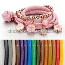 Brown bracelet bangle square link bracelet gold colorful crystal bracelet friendship