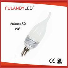 candle shaped led light bulb led paraffin wax candle light 3w e14 led candle light