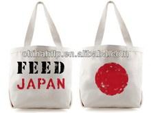 Diy trendy indian cotton canvas woven shopping bag