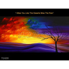 Handmade modern abstract vibrant trees Landscape Oil Painting, I Miss You Like The Deserts Miss The Rain 2-trees