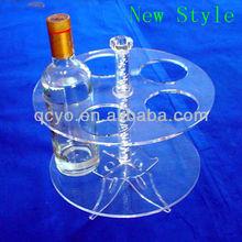 2015 high quality clear acrylic display shelf wine bottle holder/