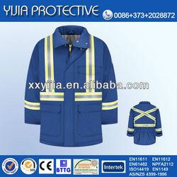 Winter flame retardant workwear anti flame coats jackets