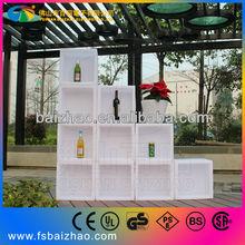 LED white outside corain modern wine bar cabinet wine display shop