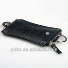 Handmade custom keyring genuine leather with zipper
