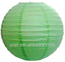 2013 fashional apple green wedding decoration Chinese hanging paper lantern wholesale