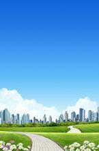 sunny day scenery in city acrylic scenery paintings