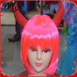 halloween party devil horns premium wigs