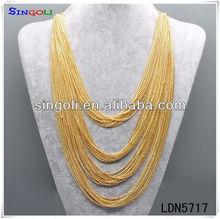 Draped Chain Necklace Latest Gold Chain Designs 2012 LDN5717