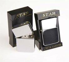 Wholesale Plain Star Petrol / Oil Lighters in Black Display Box