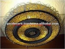 Bamboo Rattan Designed Ceiling Lamp
