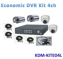 Newest Big Promotion !!! Customized 4ch Economic Security 4ch dvr cctv camera kit,All In One Kit