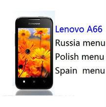 Original lenovo a66 phone MT6575 1GHZ cpu russian polish menu 3.5inch screen 2.0M camera