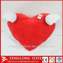 hot selling festivel gift lover gift plush cupid wing heart shape pillow