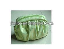green pu leather cosmetic bag