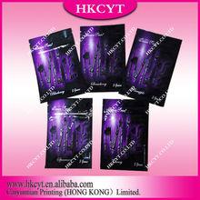 Hot selling twilite zipper bag/Customized flavors printed small aluminum foil packaging bag