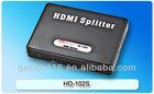 2013 New mini HDMI splitter 1 in 2 out HD-102S