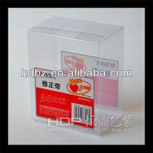 auto bottom handmade clear soft crease plastic box packing box