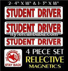 reflective student driver magnet(M-C37)